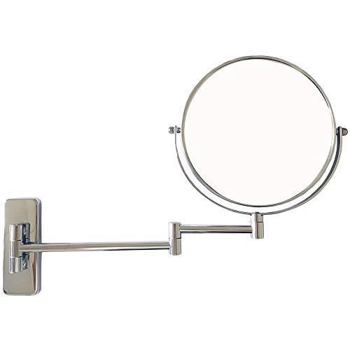 Lansi Makeup Mirror 7X Magnifying Wall Mount Double-Sided Vanity Decoration, Round, 8 -