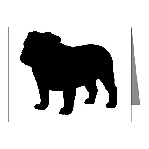 CafePress - Bulldog - Blank Note Cards (Pack of 20) Glossy