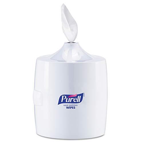 PURELL Hand Sanitizing Wipes Wall Mount Dispenser, White, High Capacity Dispenser for PURELL 1200/1500 Count Hand Sanitizing Wipes Containers - 9019-01 ()
