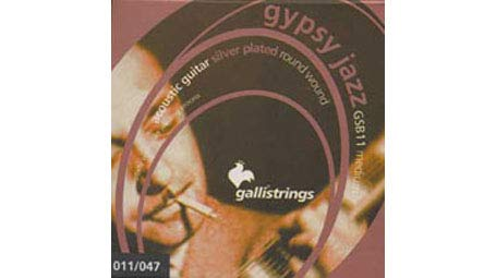 Galli Strings GSB11 GYPSY JAZZ Silver Plated Round Wound Medium Acoustic Guitar Strings