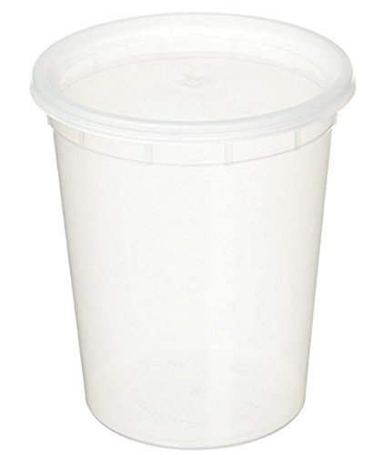 YW Plastic Soup/Food Container with Lids, 32 oz.
