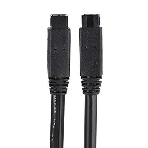 Computer Cables Widely Use 1.8M 1394B 9Pin to 9Pin Data Cable Pure Copper Core FireWire Adapter Cable - (Cable Length: 180cm, Color: Black)