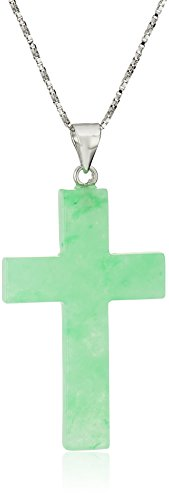 Green Sterling Silver Pendant Necklace