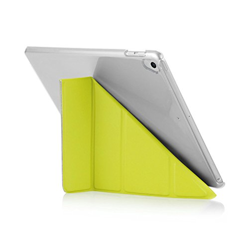 Pipetto New iPad 9.7 Inch (2017 / 5th Gen) Case - 5 in 1 Folding Origami Smart Case with Auto Sleep/Wake Function (Compatible with Apple iPad 9.7 2017 Model & iPad Air 1) - Pistachio & Clear 1 Pistachio