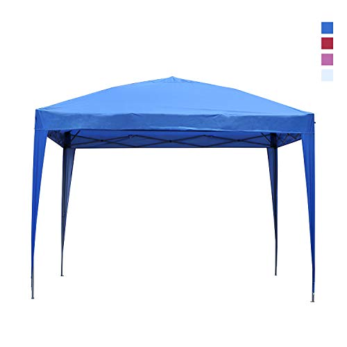 Leisurelife Waterproof 10'x10' Pop Up Canopy Tent with Side-Outdoor Folding Commercial Gazebo Party Tent ()