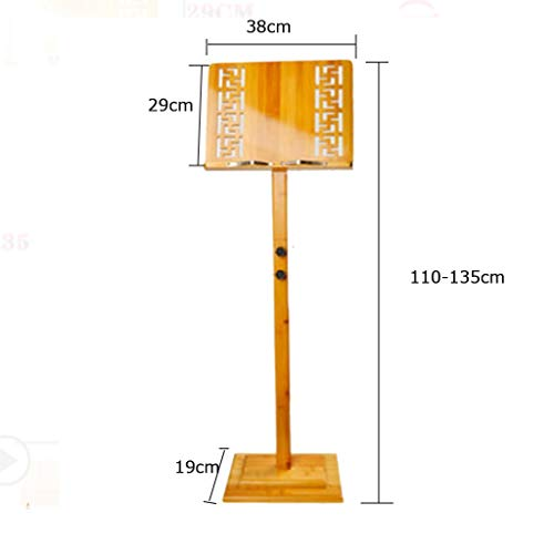 WZCYPJA Music Stand Portable Wooden Adjustable Height Super Sturdy Lightweight Professional for Instrumental Performance Carring