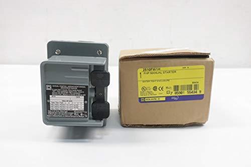 SQUARE D 2510-FW1H Manual Motor Starter 115V-AC 1HP SER B D639774 ()