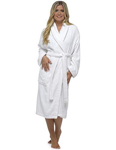 di Accappatoio Shawl Natale cotone donna da lussuoso perfetto White in spugna regalo 100 Sr1SHwzxq