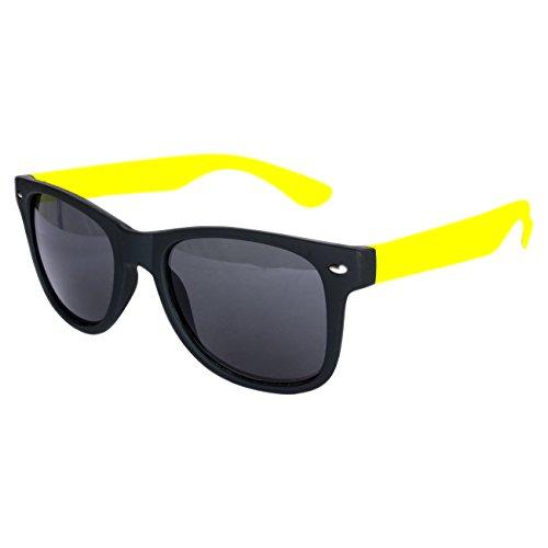 unisexe Nerd différents de coloris de soleil wayfarer et vintage retro disponibles 150 de pour lunettes soleil Gummiert Gelb paire modèles lunettes style env clear Schwarz dimensions rUEwvr