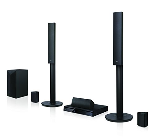 LG LHA745 5.1 3D Blu-ray Heimkinosystem (1000 Watt, Smart TV, DLNA, Bluetooth, 1080p Upscaling) schwarz