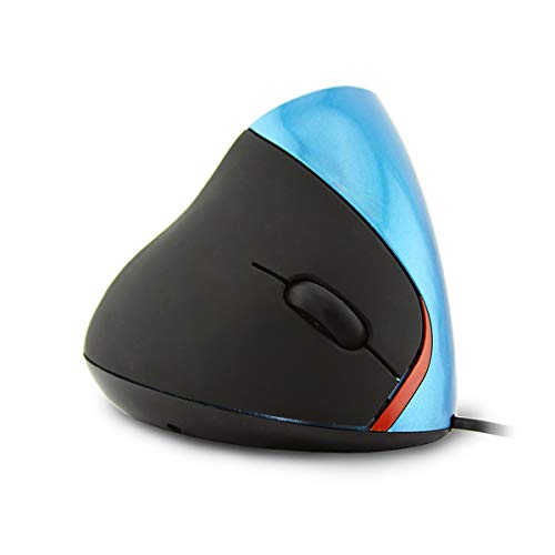 TOP SKY 2.4G Vertical Mouse 1600 DPI 5 Buttons Wired Ergonomic Optical Mouse with USB Connection for Laptop PC Computer Desktop Notebook ()