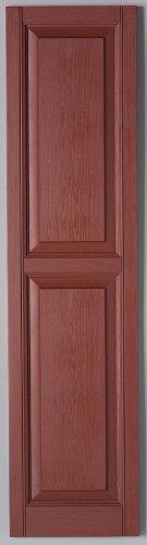 Richwood Red 15x59 Raised Panel Shutter Pair
