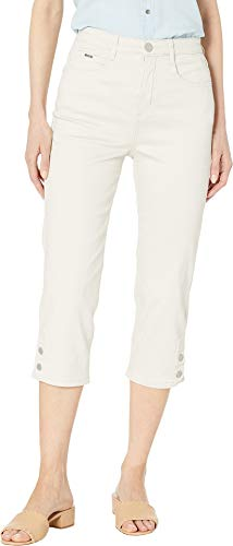 FDJ French Dressing Jeans Women's Soft Hues Denim Suzanne Capris in Straw Straw 10 21