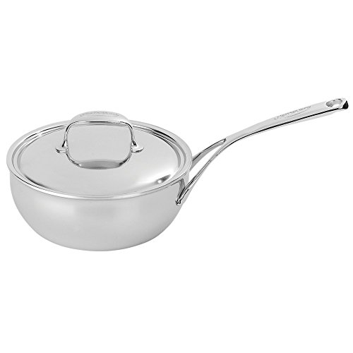 (Demeyere Atlantis 2.1 Quart Conic Sauteuse Pan with Stainless Steel Lid)