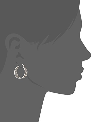 Sterling Silver Filigree Hoop Earrings (1.0'' Diameter) by Amazon Collection (Image #2)