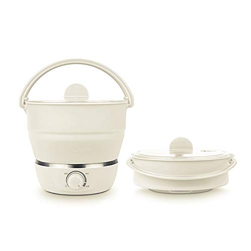 Find Bargain Drizzle Foldable Electric Hot Pot Cooker Dual Voltage100V-240V, Mini Kettle Food Grade ...