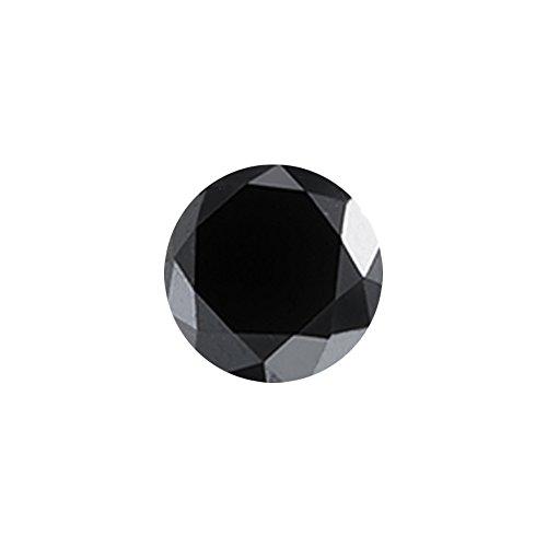 1/2 (0.46-0.55) Cts of 4.30-5.00 mm AAA Round Black Diamond (1 pc) Loose Diamond