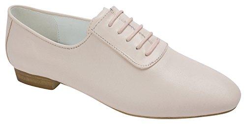 KARA Womens Leather Lace Up Oxford Pink v4r1YlJ7Ex