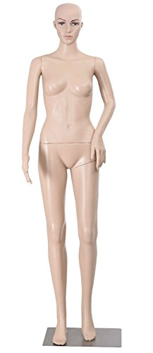 For Sale! Female Mannequin Plastic Realistic Display Head Turns Dress Form w/ Base from Unknown