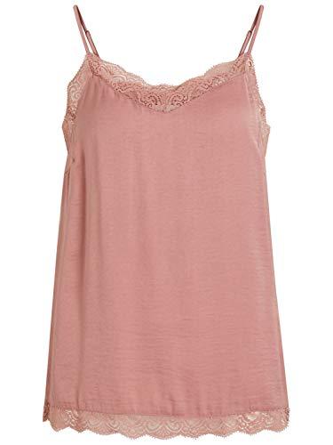 - Vila Clothes Top Woman Vicava Lace Singlet 14044577 l Pink
