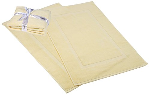 HILLFAIR Bath Towels Set (Bath Mat-Set of 2, Yellow) by HILLFAIR
