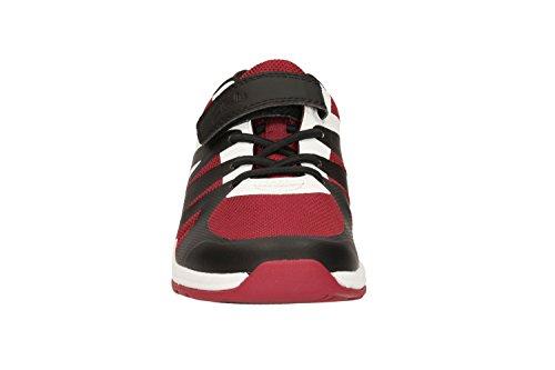 Clarks  Trace Step Inf,  Jungen Durchgängies Plateau Sandalen mit Keilabsatz , rot - rot - Größe: 27 EU F