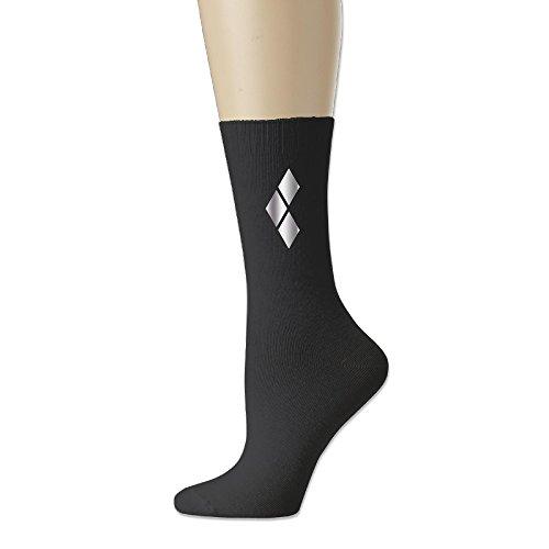 [TONSILEA Batman Inspired Harley Platinum Style Men's Cotton Socks] (Batman Dress Socks)