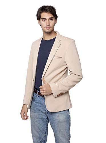 - ZITY Men One-Button Classic Blazer Jacket Khaki US M=Lable3XL