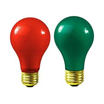 Christmas Light Bulbs   Red And Green Light Bulbs   Dimmable Light Bulbs 60  Watt