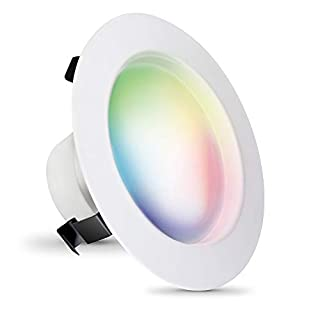 FEIT Electric - Smart WiFi LED Color Changing and Dimmable Recessed Downlight LED Retrofit Kit, No Hub Required, Works with Alexa and Google Assistant(LEDR4/RGBW/AG)