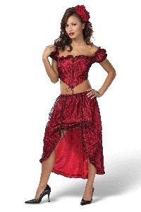Spanish Rose Dancer Adult Costume Size Medium 10-12 (Adult Spanish Dancer Costume)