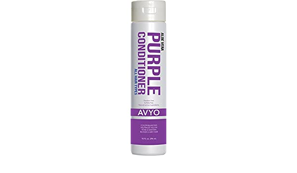 Amazon.com : Purple Conditioner | All Hair Types | Aloe Vera | Color-Balancing | Neutralize Yellow | Tone & Maintain | Blonde & Grey Hair | Natural active ...