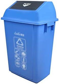 滑らかな表面 大分類ゴミ箱、長方形の強い大容量リサイクルビンストリート住宅地ゴミ箱 リサイクル可能なデザイン (Color : Blue, Size : 44.5*32*76CM)