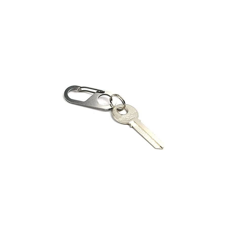 Gracefulvara 4 Pcs Creative Portable Stainless Steel Climbing Buckle Key Buckle Double Round Hook
