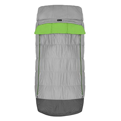 Winterial Adult Size Sleeping Bag with Pad Sleeve, Comfortable and Warm for Camping in The Cold, 32 Degree Temperature Rating, (Pad Not Included)