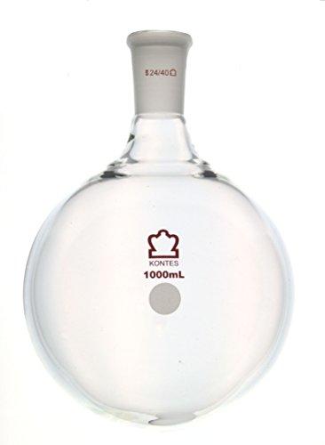 Kimble Chase KIMAX 601000-0824 Heavy Wall Round Bottom Flasks, Single 24/40 Standard Taper Neck, Borosilicate Glass, 2 L by Kimble Chase