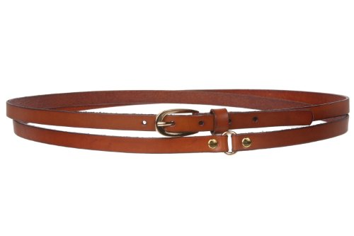 Solid Leather Double Wrap Belt, Cognac | S/M - 32