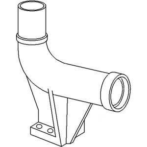 White Oliver Mpl Moline Tractor 2-135, 2-155, 2150 Exhaust Outlet Elbow Part No: 303216063, 30-3216063
