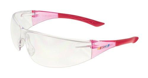 Encon Nascar 427 Wraparound Safety Eyewear, Scratchcoat Clear Lens, Pink Frame (Pack of 1)