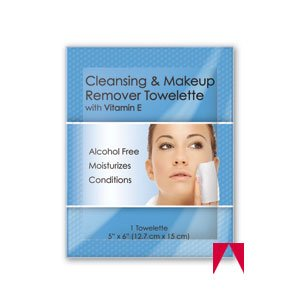 (MT Facial Makeup Remover Wipes Ind. Wrapped 500/cs )