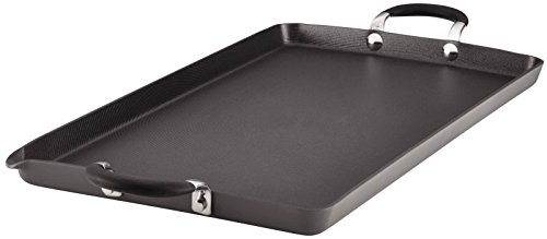 Circulon Momentum Hard-Anodized Nonstick 18-Inch x 10-Inch Double Burner Griddle - Gray