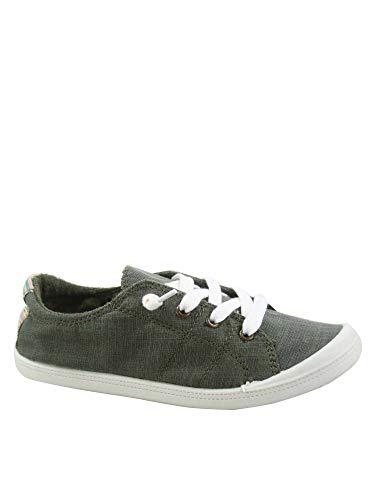 FZ-Comfort-01 Women's Cute Comfort Slip On Flat Heel Round Toe Sneaker Shoes (8 B(M) US, Olive)