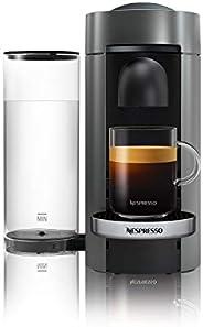 NESPRESSO Cafetera VertuoPlus, Color Gris (Incluye obsequio de 12 cápsulas de café)