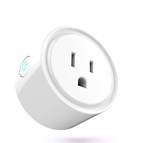 Smart Plug Wifi Wireless Home Electrical Timing Outlet Lobay Remote Control Light Switch Compatible with Alexa and Google Assistant IFTTT 1Pack (smart plug 1 pack wifi wireless)