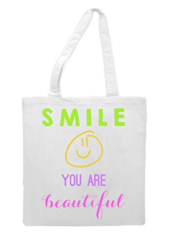 You Tote Beautiful Bag White Are Smile Shopper BqwvdB