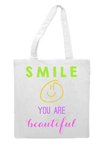 You Tote Beautiful Bag White Are Smile Shopper BqwvdB