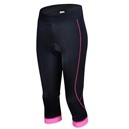 SMARTSTAR Damen Frauen Mädchen Radfahren Reiten GEL gepolsterte Shorts Fahrradbekleidung Capri Hose Strumpfhose Größe XXL - Pink
