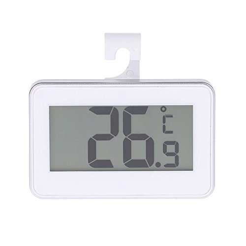 - Yuayan Kitchen Refrigerator Thermometer Fridge Freezer Digital LCD Display Waterproof