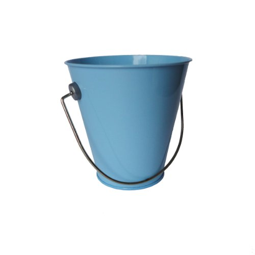 Hampton Art Wrap it Up Tin Pail, Small, Pastel Blue