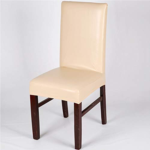TANGOGO Leather PU Chair Covers Seat Covers Office Chairs Brown Waterproof Leather Dining Chair Covers Black Silver Grey